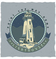 nautical t-shirt label design with lighthouse vector image