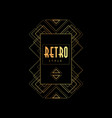 retro style gold and black vector image