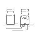 vintage bottle vector image
