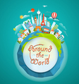 Famous signts around the world Travel concept vector image