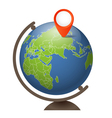 Earth globe on a support vector image vector image