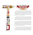 Poster of repair tools and construction items vector image