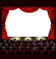 cinema with audience vector image vector image