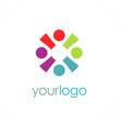 team work logo vector image