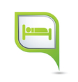 bed GREENpointer vector image