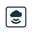 connect cloud icon Rounded squares button vector image