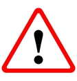 triangular warning sign vector image vector image