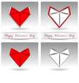 origami heart red and white color vector image