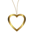 heart pendant of gold vector image