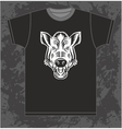 Boar on T-shirt vector image
