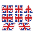 buttons with Union Jack flag vector image