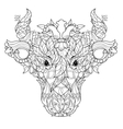 Cow head doodle on white background vector image