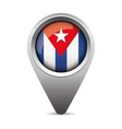 Cuba flag pointer vector image