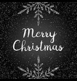 merry christmas card with modern calligraphy text vector image