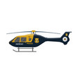 police helicopter icon aircraft vehicle vector image