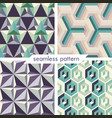 set of four seamless geometrical patterns 14 vector image