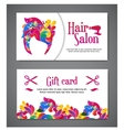 set of two templates of gift cards with color vector image