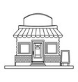 store market business shop building outline vector image