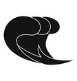 wave surf icon simple black style vector image
