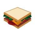whole sandwich icon vector image