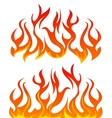 Fire flames set vector image