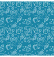 seamless abstract pattern on a blue background vector image vector image