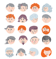 People faces funny set vector image vector image