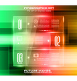 Infographic Layout with glass panels an high tech vector image vector image