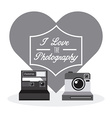 old style photograph vector image