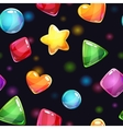 Seamless pattern with glossy shiny shapes vector image