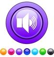 Sound circle button vector image vector image