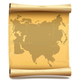 Paper Scroll with Eurasia vector image
