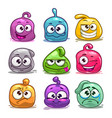 funny colorful blob characters vector image