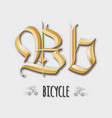 Letter Bb sticker insignia vector image