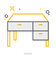 Thin line icons Table vector image