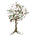 Hearts Tree vector image vector image