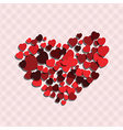 small red hearts create big heart vector image