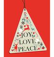 Christmas pine tree hang tag vector image