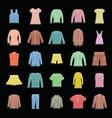 fashion clothes set doodle for vector image