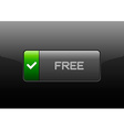 Free Button vector image vector image