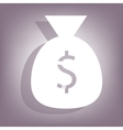Money bag icon with shadow vector image