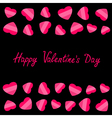 Happy Valentines Day Love card Heart frame Flat vector image vector image