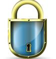 metal padlock vector image