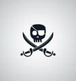 pirate flat icon theme vector image