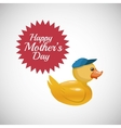 Happy mothers design white background vector image