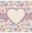 Background with hearts vector image