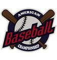 Baseball tournament professional logo vector image