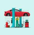 car repair station mechanic vector image