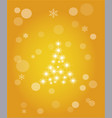 christmas abstract background of crystal vector image