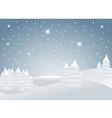 christmas landscape vector image